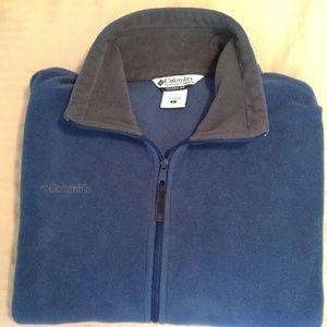 Columbia Men's Full Zip Fleece Blue Size Large